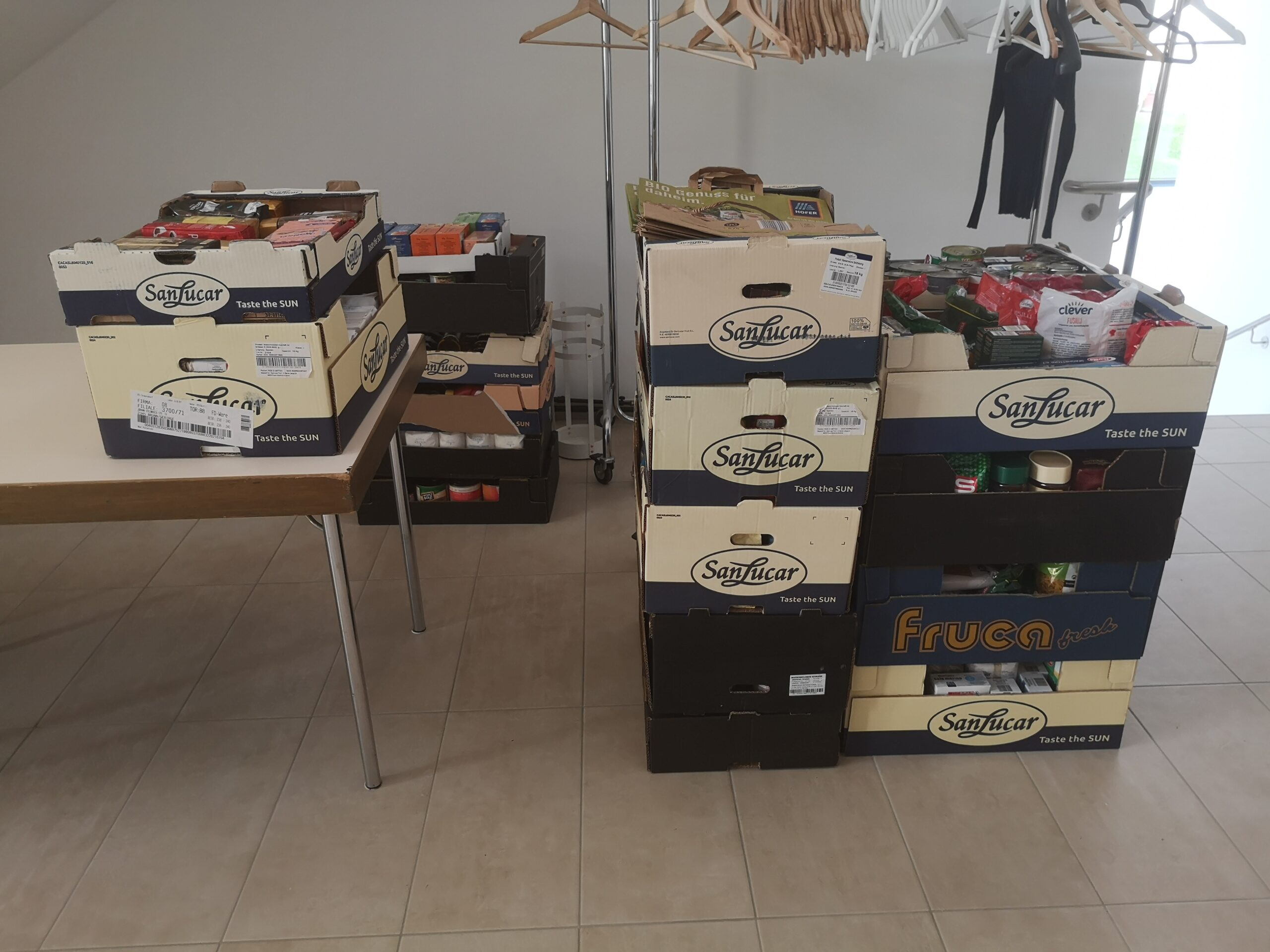 Bravo! 250 kg Lebensmittel gesammelt